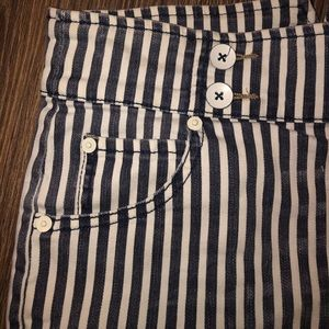 Free People Striped Shorts
